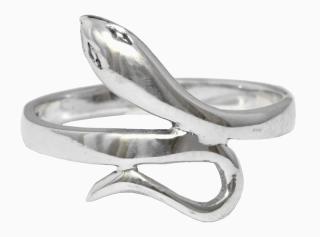 Ring Feine Schlange, Silber 925 19 / 60