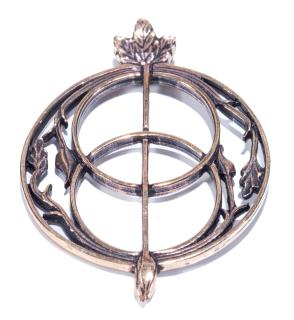 Amulett Anhänger Avalon Chalice Glastonbury groß, Bronze