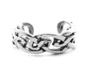 Ohrklemme, Bartperle  Keltischer Knoten schmal, Silber 925