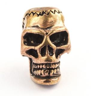 Bartperle  Totenkopf Skull, Bronze