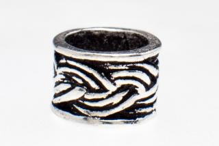 Bartperle und Lockenperle Keltischer Zopf Giunevere, Silber 925
