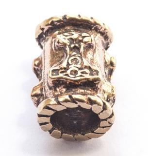 Bartperle und Lockenperle Thors Hammer Mjölnir, Bronze