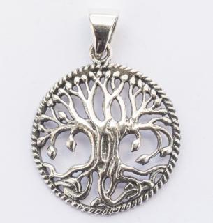 Kleiner keltischer Baum RUNA, Silber 925