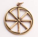 Amulett Anhänger Großes Sonnenrad Kolovrat,...