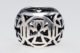 Bartperle und Lockenperle Ronan Templerkreuz, Silber 925