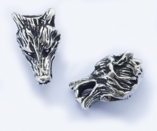 Bartperle und Lockenperle Vargar Wolfskopf, Silber 925,1 Stck.