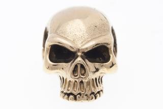 Amulett Anhänger Skull Totenkopf, Bronze