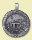 Amulett Anhänger Stonehenge Steinkreis, aus Schmuckzinn