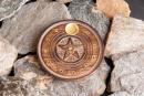 Räucherstäbchenhalter Pentagramm, Holz geschnitzt