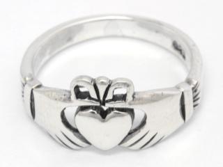 Ring CLADDAGH, Silber 925 14,5 / 46