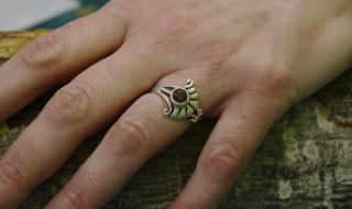 Ring mit Amethyst, Silber 925, Unikat