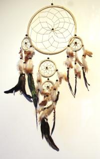 Dreamcatcher, Traumfänger 5-teilig, Beige