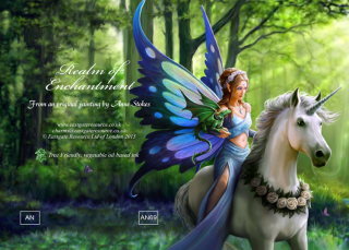 Anne Stokes Grußkarte REALM OF ENCHANTMENT