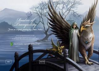 Anne Stokes Grußkarte REALM OF TRANQUILITY