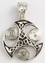 Amulett Anhänger Spiral Triskele, Silber 925