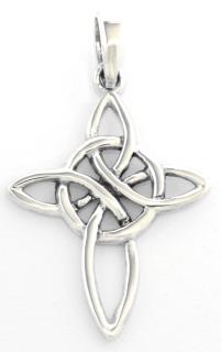 Amulett Anhänger Keltisches Kreuz, Silber 925