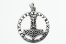 Amulett AnhängerThors Runenhammer, Silber 925