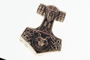 Amulett Anhänger Thoron Thors Hammer, Bronze