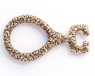 Amulett Anhänger Schlüssel zur Regenbogenbrücke, Bronze