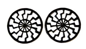 Ohrstecker Sonnenrad Sonnenkreis, Silber 925 geschwärzt