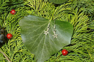 Ohrhänger Pentagramm, Silber 925