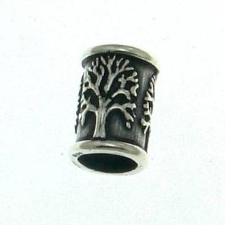 Bartperle und Lockenperle Lebensbaum, Silber 925