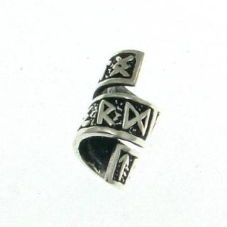 Bartperle und Lockenperle Runen groß, Silber 925