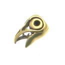 Bartperle und Lockenperle Keltischer Rabe, Bronze