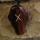 Amulett Anhänger Rune Gebo, Rosenholz