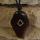 Amulett Anhänger Rune Ingwaz, Rosenholz