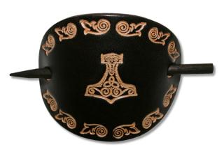 Lederhaarspange THORS HAMMER, in schwarz od. braun