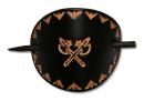 Lederhaarspange ÄXTE, in schwarz od. braun