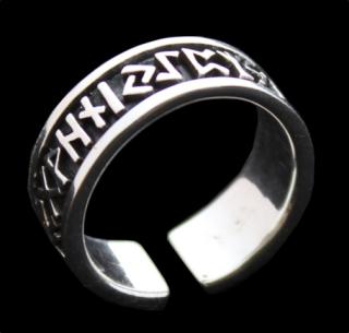 Ring Runen Futhark, Silber925 21,5 / 68