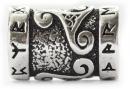 Bartperle und Lockenperle Triskele mit Runen, Silber 925