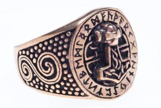 Ring Donar Futhark, Bronze 18 / 56