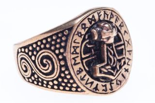 Ring Donar Futhark, Bronze 22 / 70