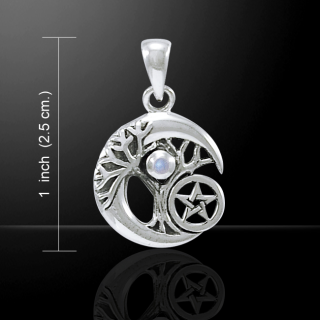 Amulett Anhänger Hexenmond mit Amethyst, Peter Stone