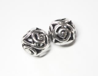 Bartperle und Lockenperle Spirals, Silber 925, 1 Stck.