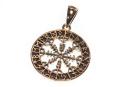 Amulett Anhänger Wikinger Kompass, Bronze