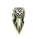 Bartperle und Lockenperle Keltischer Rabe, Silber 925