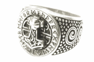 Ring Donar Futhark, Silber 925