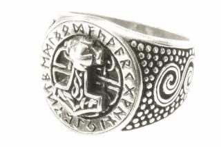 Ring Donar Futhark, Silber 925  16/50