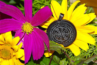 Runenamulett Schutz der Walküren, Rinderhorn
