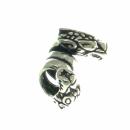 Bartperle und Lockenperle Wikinger Hunde, Silber 925