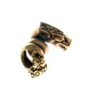 Bartperle und Lockenperle Wikinger Hunde, Bronze