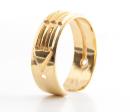 Atlantisring Ring der Schützer, Damengröße Silber 925, vergoldet