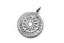 Amulett Anhänger Sonnenrad Sonnenkreis mit Runen,...