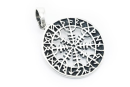 Amulett Anhänger Wikinger Kompass, Silber 925