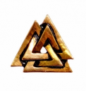 Anhänger Replikat Odins Knoten Walknut, Bronze
