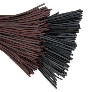 Lederband vierkant 2,5mm schwarz 1m